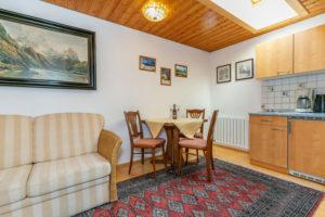 Wohnküche im Appartment Typ B im Altenburger Hof